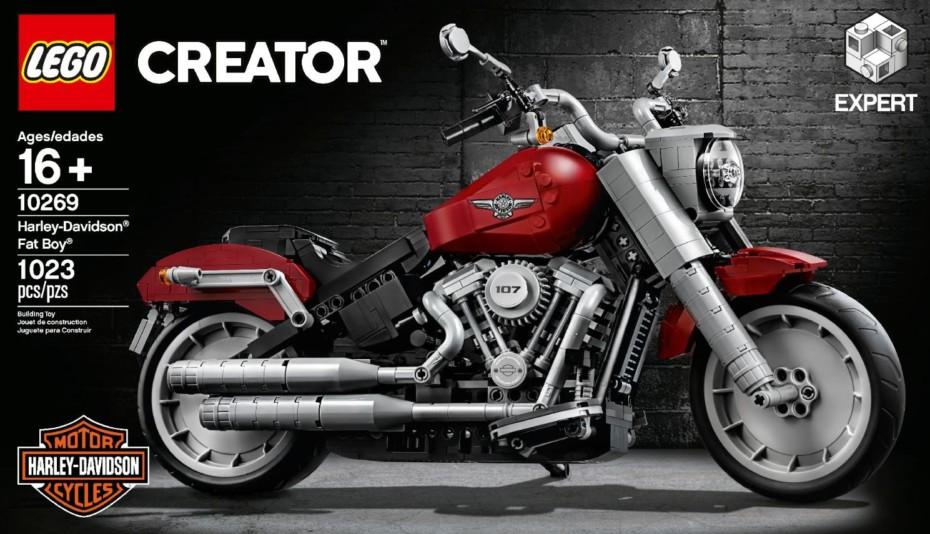 Así es el nuevo SET de LEGO: una Harley-Davidson Fat Boy de 1023 piezas
