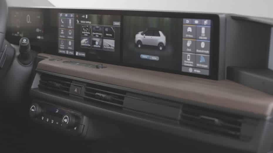 Así es el interior del Honda e: Hasta cinco pantallas y cámaras en lugar de retrovisores