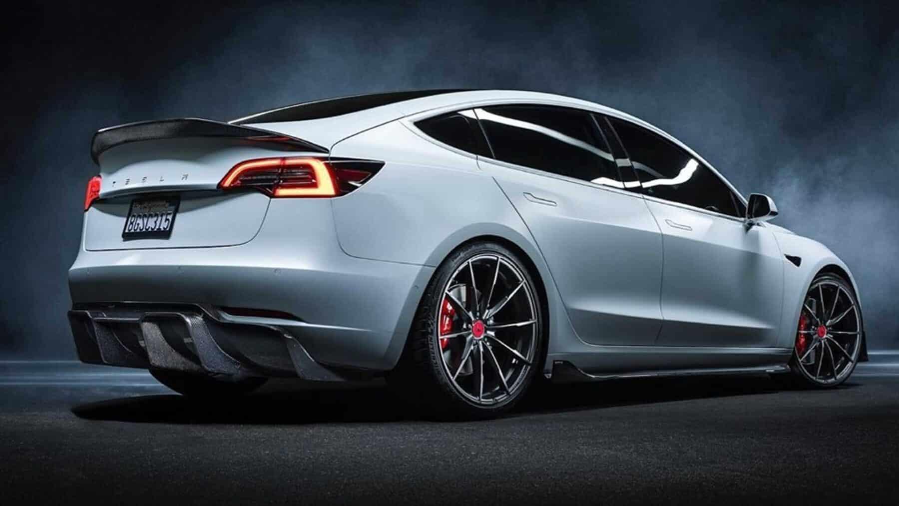 Lo último De Vorsteiner Es Este Salvaje Tesla Model 3 Rico