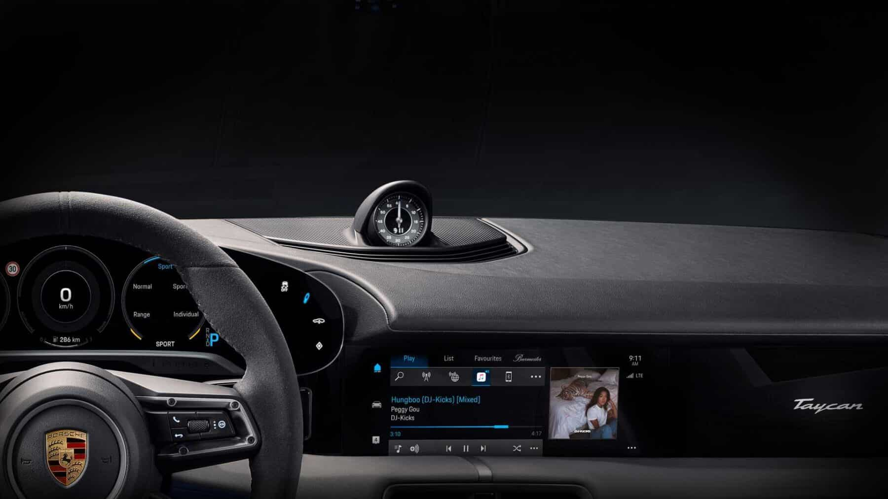 El Porsche Taycan traerá Apple Music completamente integrado en el navegador
