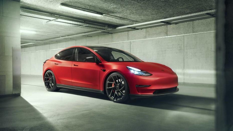 Lo último de Novitec es un Tesla Model 3 con esteroides realmente atractivo