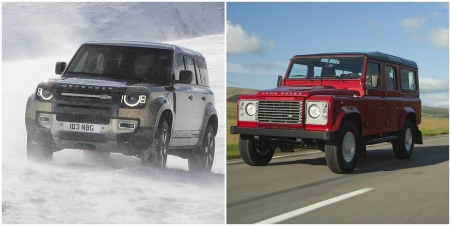 Comparación visual Land Rover Defender 2020: Juzga tú mismo cuánto ha cambiado este icono