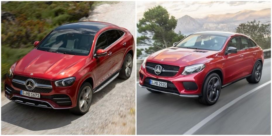 Comparación visual Mercedes-Benz GLE Coupé 2019: Juzga tú mismo cuánto ha cambiado el SUV