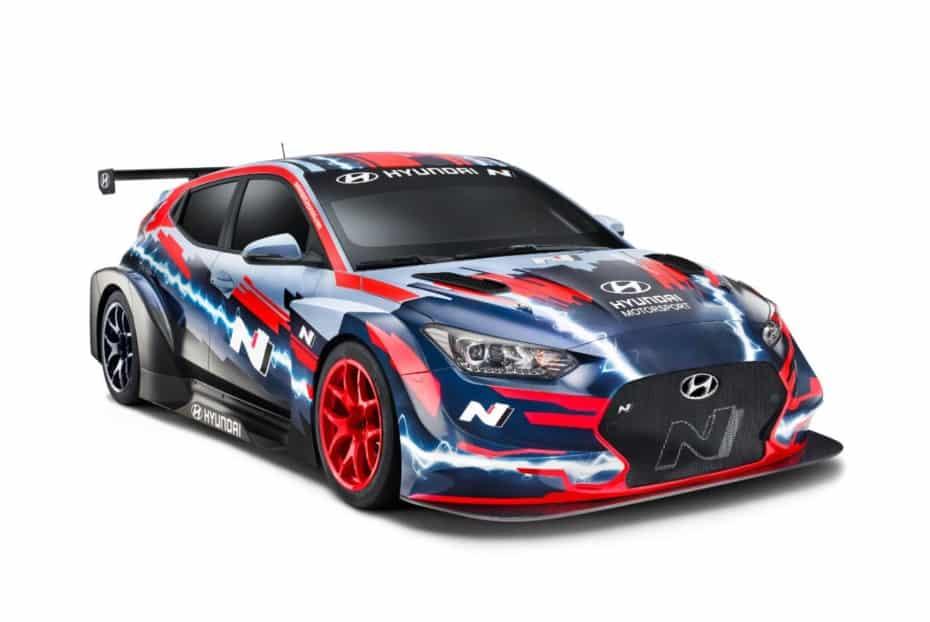 Hyundai nos muestra el Veloster N ETCR, su primer modelo de carreras 100% eléctrico
