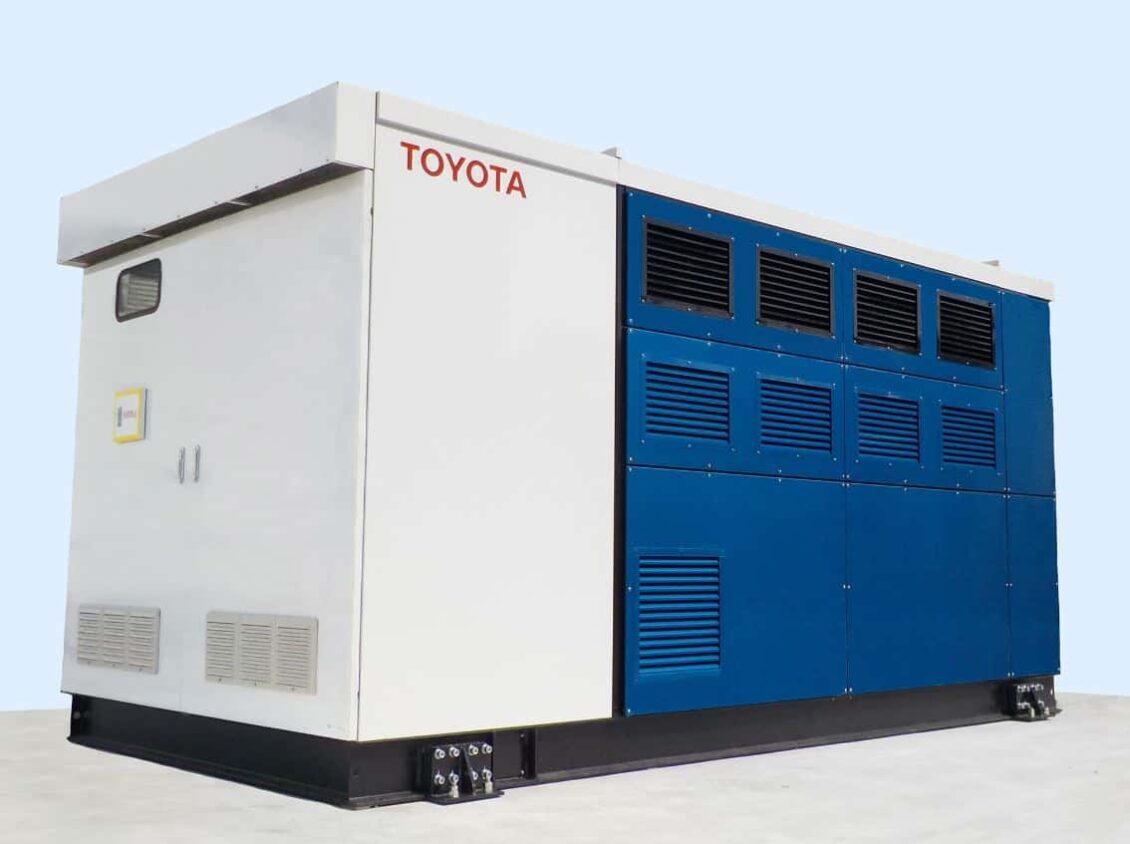 Los ruidosos y apestosos generadores diésel más cerca de su fin: Mira este de Toyota con pila de combustible