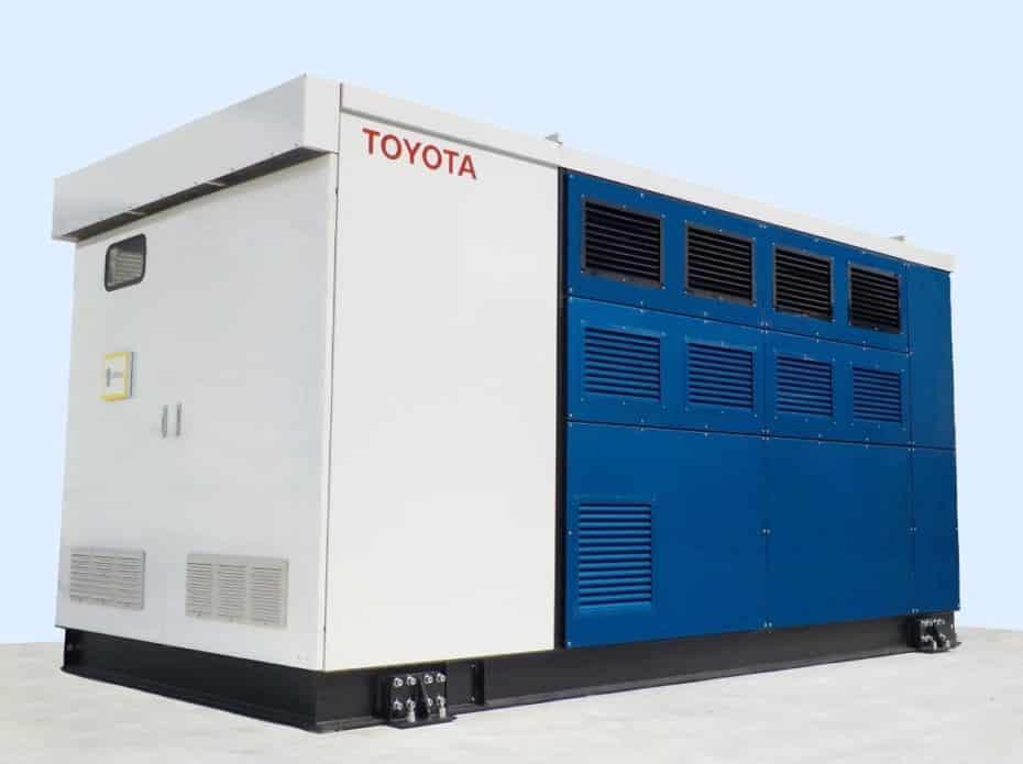 Adiós a los ruidosos y apestosos generadores diésel: Mira este de Toyota con pila de combustible