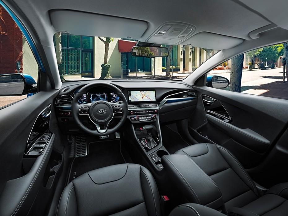 Un vistazo más al detalle del nuevo interior del Kia Niro