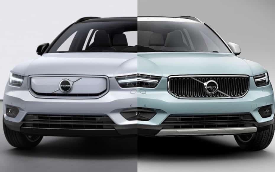 Comparación visual Volvo XC40 Recharge: Sutiles pero acertados cambios respecto al convencional