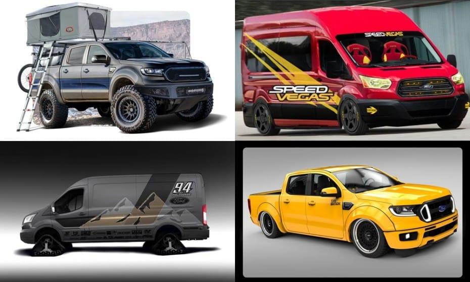 Ford se prepara para el SEMA Show 2019: Seis Ranger brutales y dos peculiares Transit