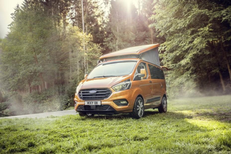 Novedades para las Ford Transit Custom Nugget: Módem 4G y motorizaciones con pegatina ECO