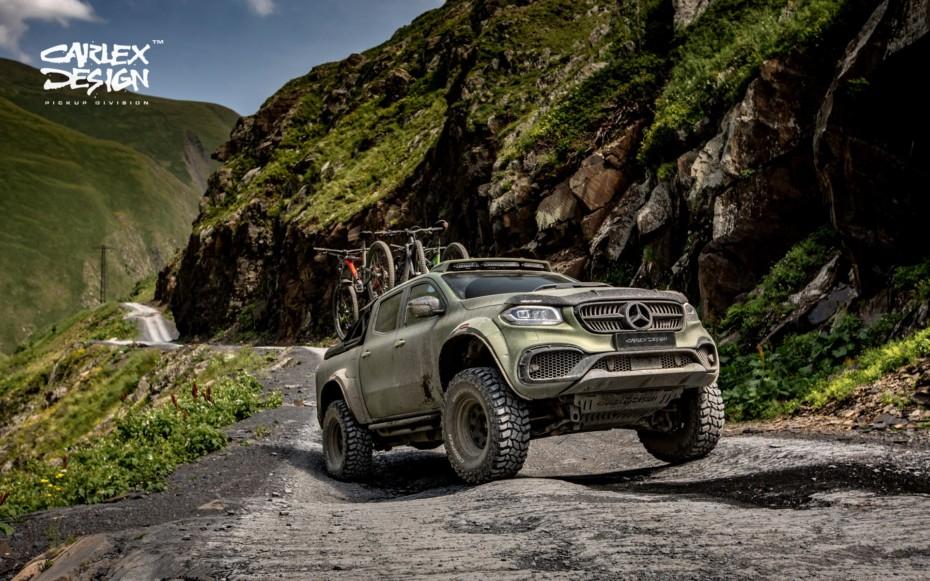 El último Mercedes-BenzClase X de Carlex Design es uno de los pick-up más salvajes que vas a ver