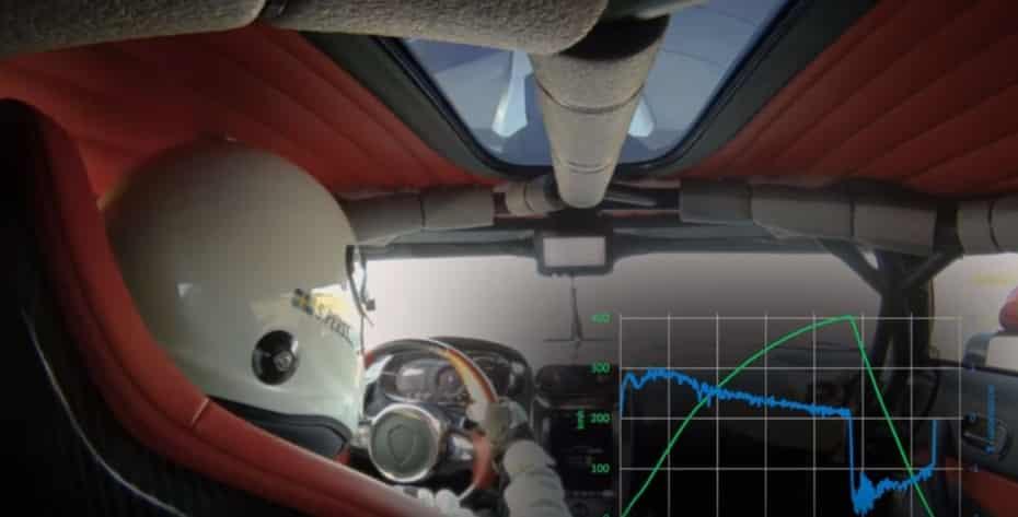 Este foi o recorde de 0-400-0 km / h do Koenigsegg Regera por dentro