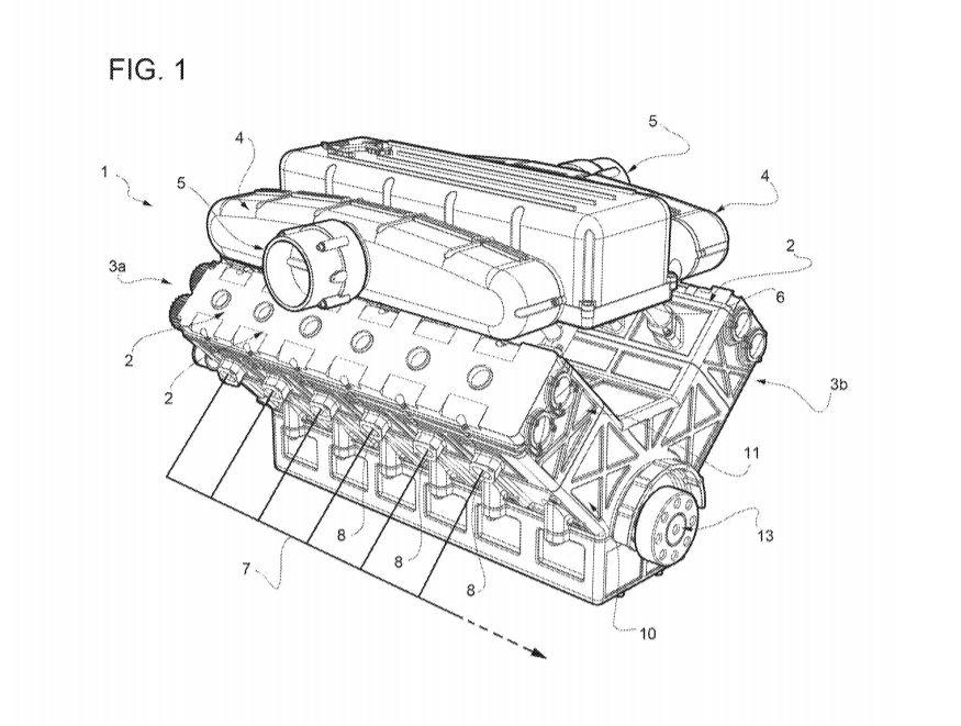 ¡Aún hay esperanza!: Ferrari patenta un nuevo motor V12 de bajo consumo y emisiones