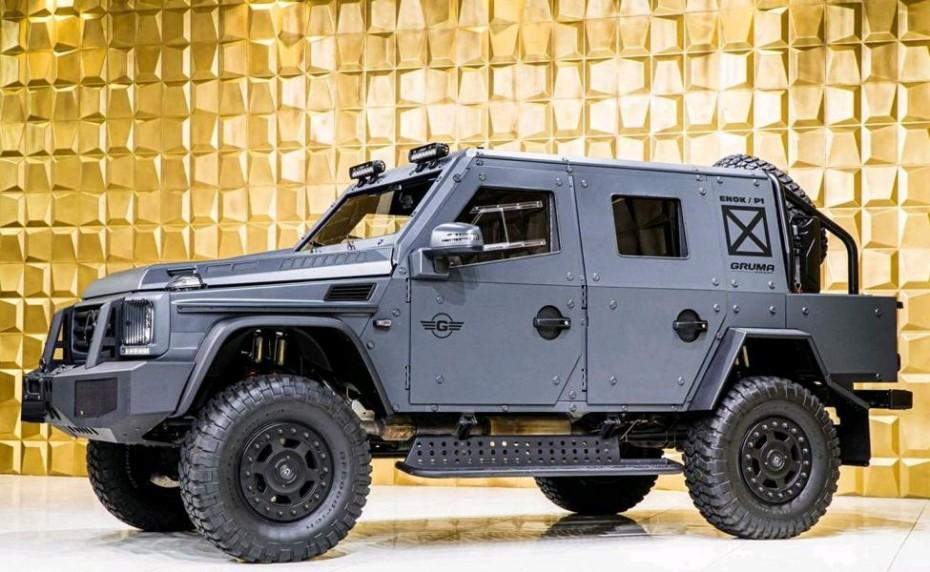 ¿Planeando un viajecito a una zona de guerra? Este Mercedes-Benz G500 4×4² no te vendrá mal