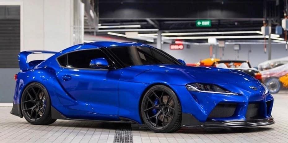 La propuesta de Ekanoo Racing para el Toyota Supra es una de las más discretas, pero muy atractiva