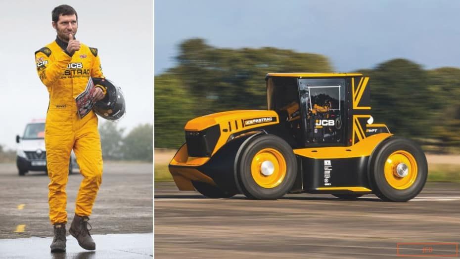 Este tractor ha alcanzado los 247,35 km/h y ahora ostenta el récord Guinness de velocidad