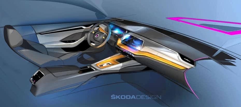 Así será el interior del nuevo Skoda Octavia…