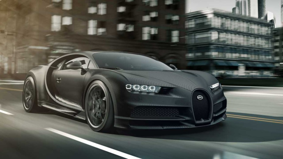 Fibra de carbono expuesta y un aspecto siniestro para los Bugatti Chiron Noire Edition