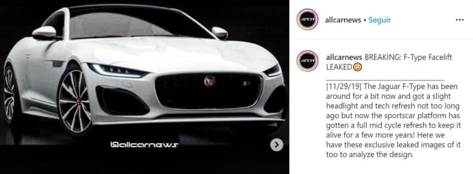 ¡Filtrado! ¿Son estos los nuevos Jaguar F-Type Coupé y Convertible? Tienen muy buena pinta