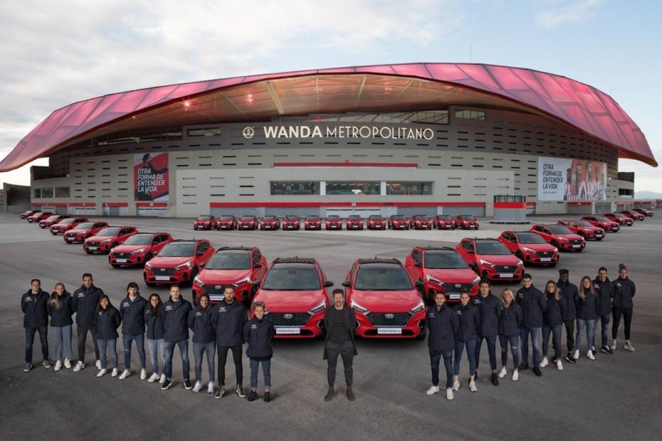 Los jugadores del Atlético de Madrid reciben sus nuevos coches: Hyundai Tucson para todos