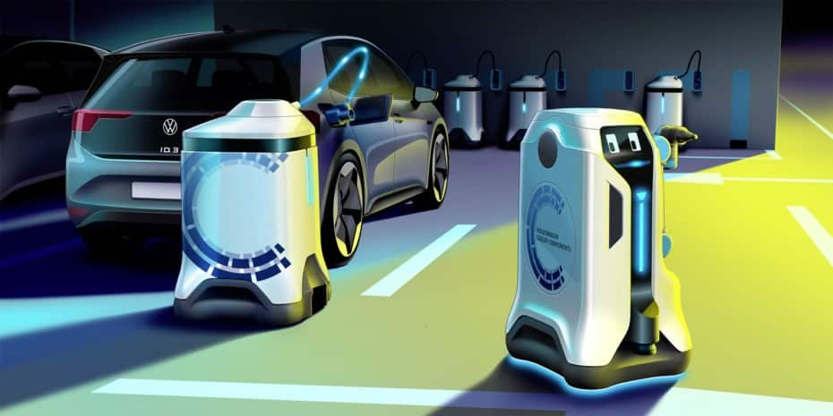 Este robot autónomo que recarga coches eléctricos será la revolución de los aparcamientos