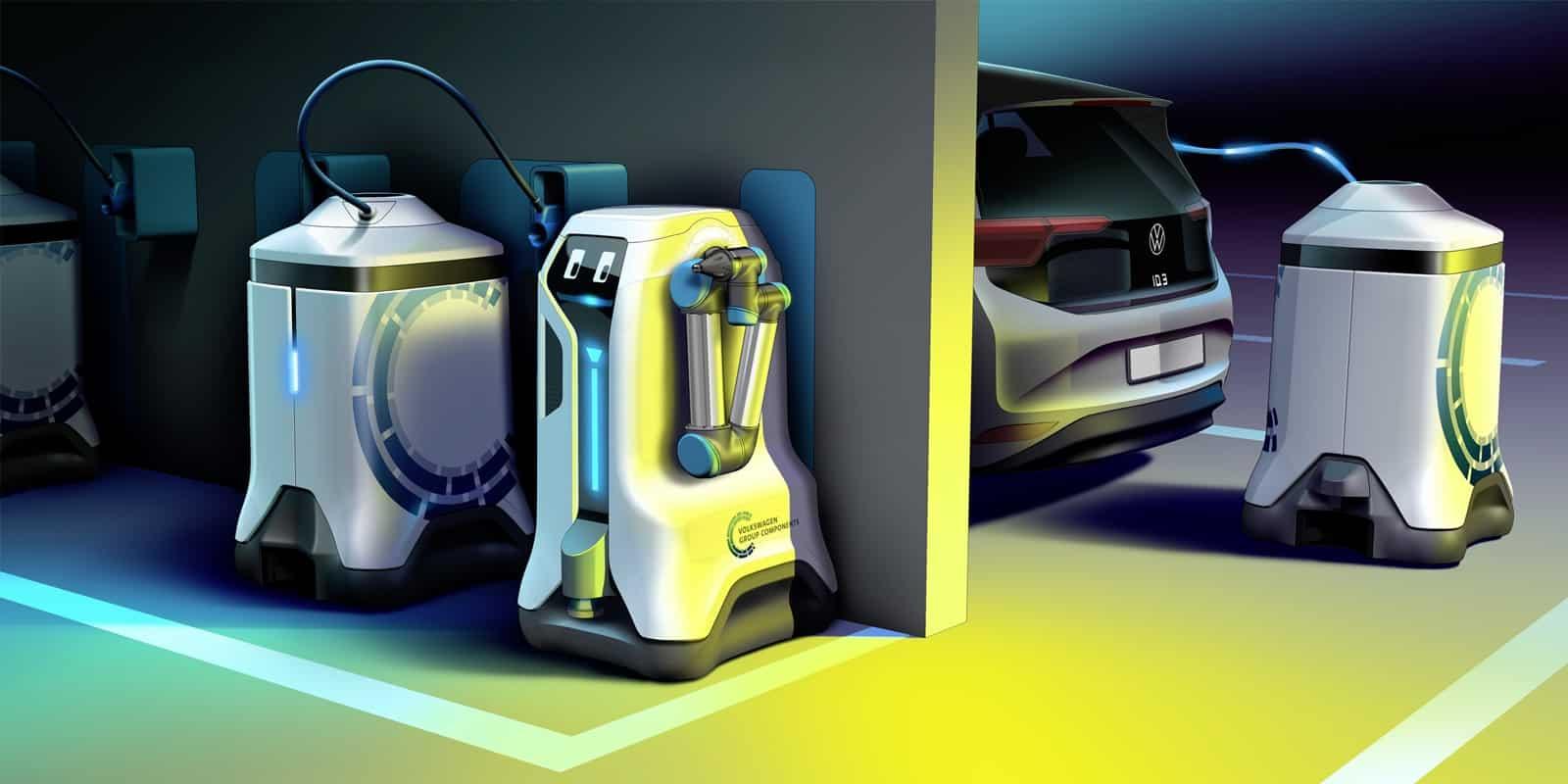 Volkswagen desarrolla un robot para la carga de autos eléctricos