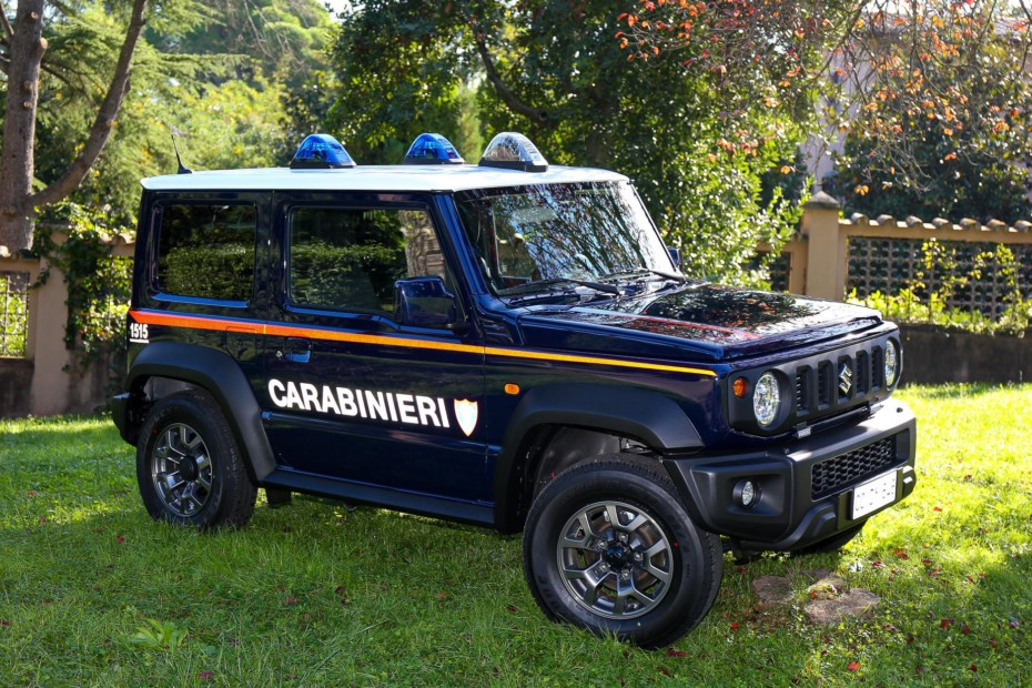 El pequeño Suzuki Jimny se suma a la flota de los Carabinieri