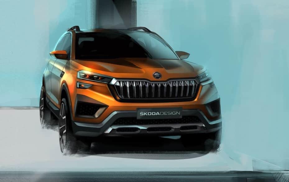 Škoda Vision IN: El primero en usar la plataforma MQB A0 IN