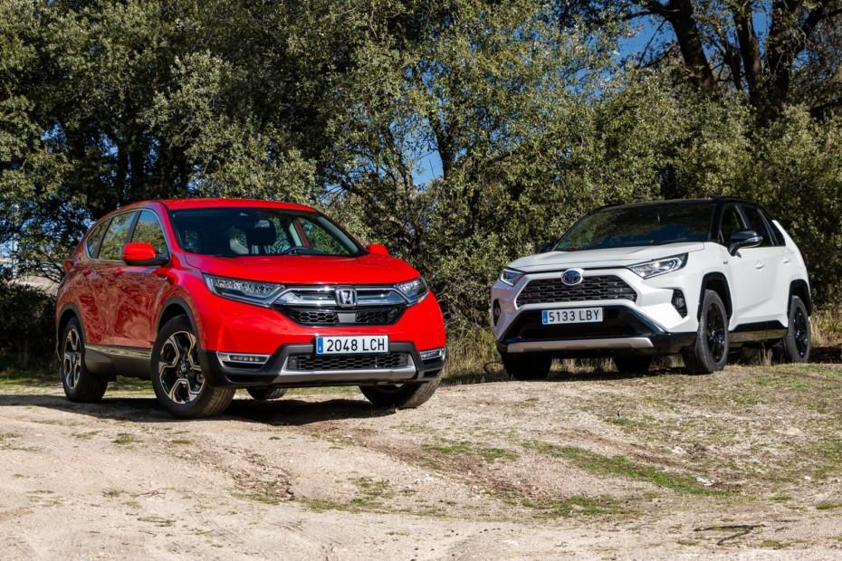 Comparativa Honda CR-V Hybrid vs. Toyota RAV4 Hybrid: Una batalla japonesa reñida