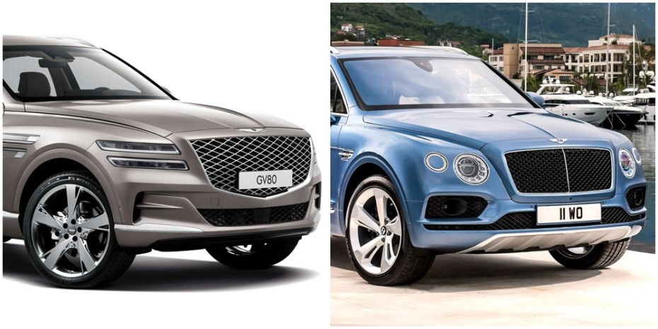 Parecidos razonables: Comparación visual Genesis GV80 vs. Bentley Bentayga