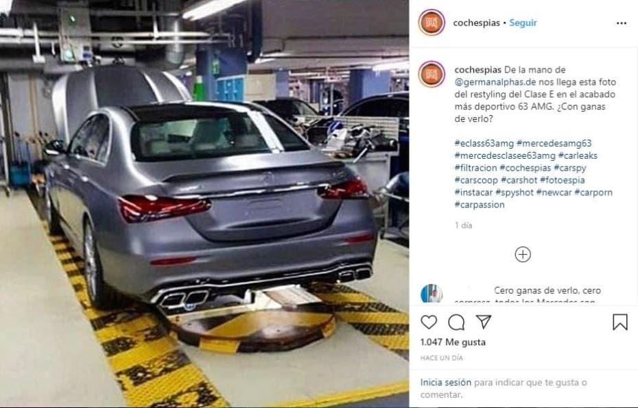 ¡Filtrado! El Mercedes-AMG E 63 4MATIC 2020 asoma la patita en la red