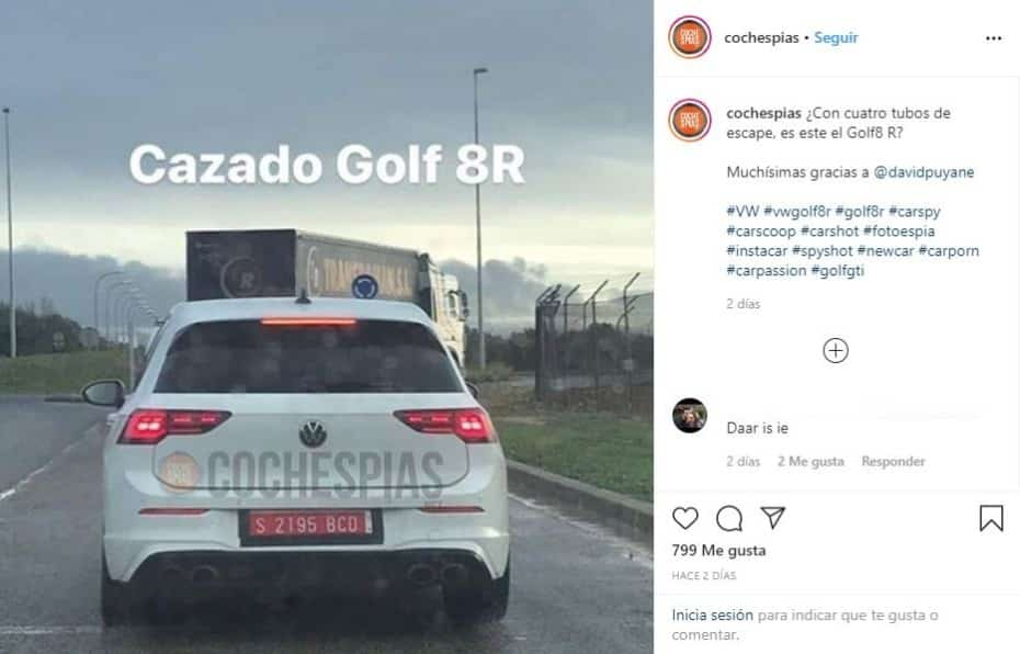 ¡Filtrado! El nuevo Volkswagen Golf R ya se ha dejado ver al descubierto