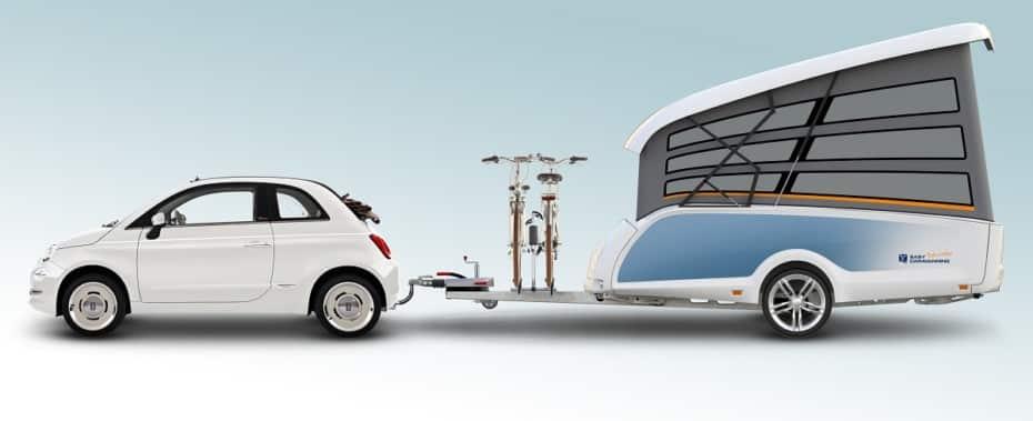 El TakeOff es una caravana plegable para cuatro personas la mar de práctica
