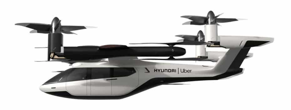 Hyundai y Uber conciben juntos un futuro con coches voladores compartidos como este