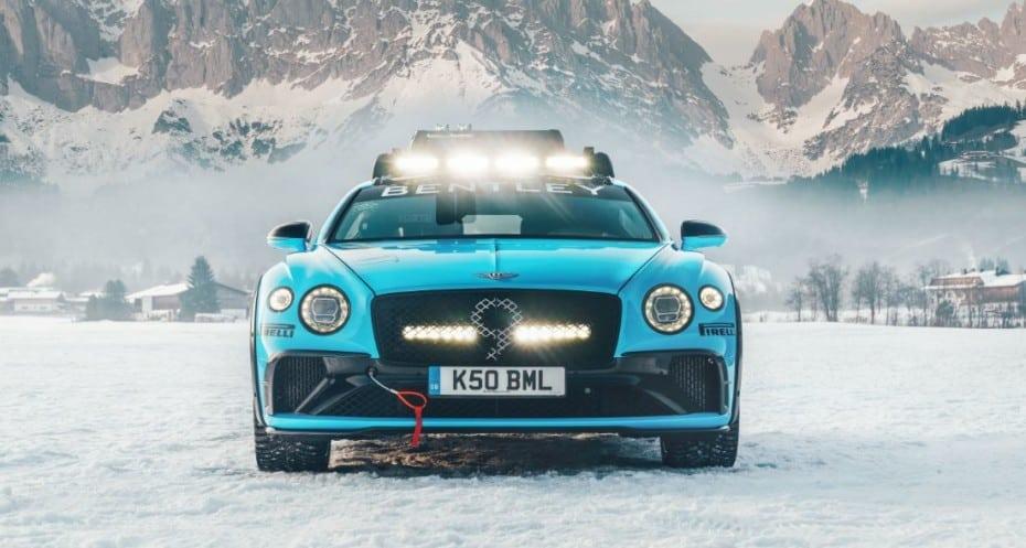 Este Bentley Continental GT Ice Race es una bestia diseñada para el hielo