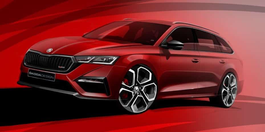 ¿Qué te parecen los bocetos oficiales del nuevo Škoda RS híbrido enchufable de 245 CV?