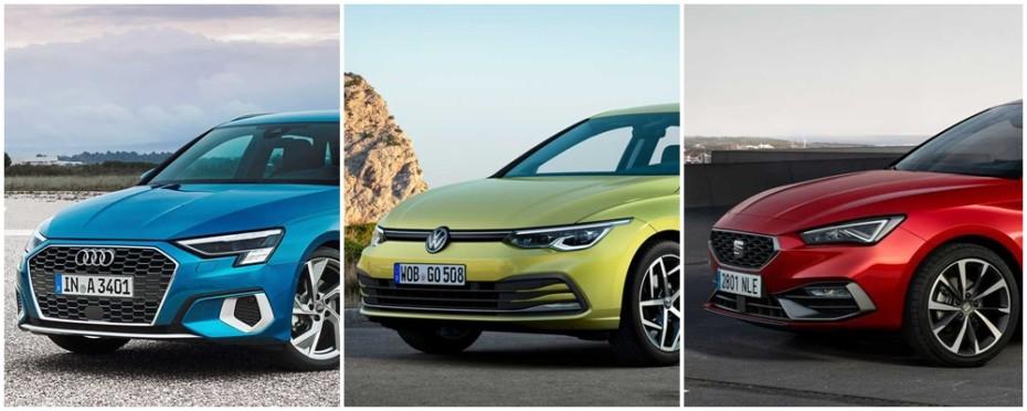 Comparación visual Audi A3 vs. Volkswagen Golf vs. SEAT León 2020: Y tú, ¿con cuál te quedas?