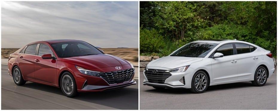 Comparación visual Hyundai Elantra 2020: ¿Qué te parece la evolución del coupé de cuatro puertas?