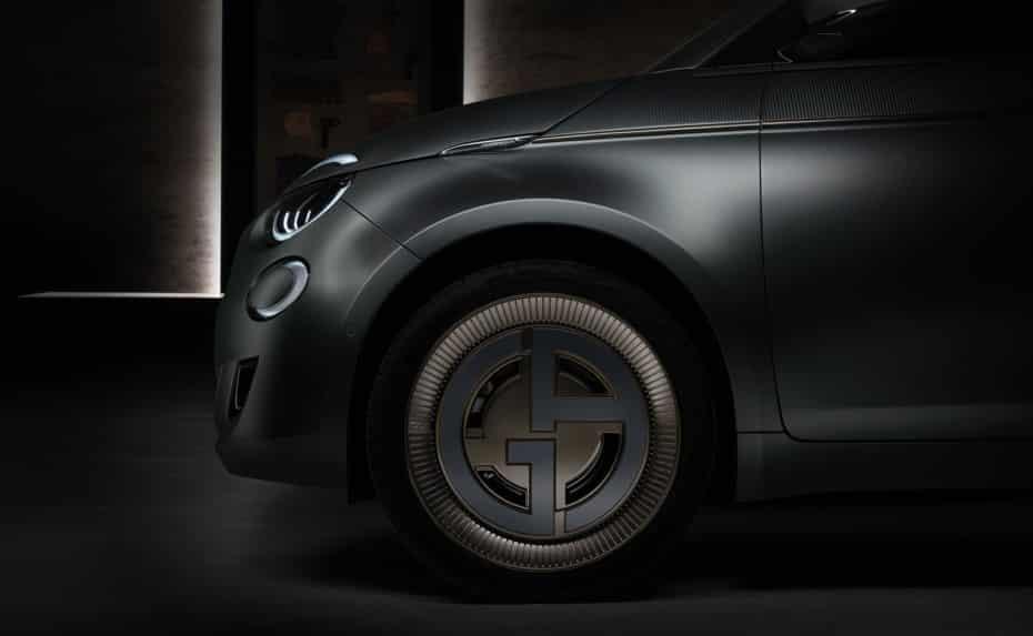 Así luce el «one off» by Giorgio Armani del Fiat 500 eléctrico