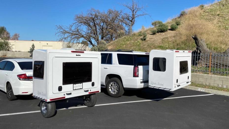 El Hitch Hotel Traveler es la caravana más pequeña del mundo, pero acoge hasta a tres personas