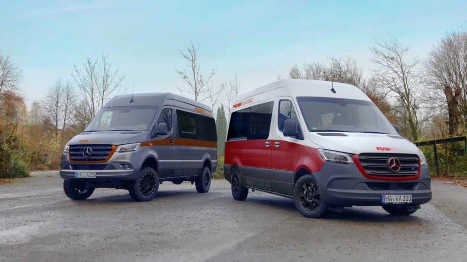 El Flowcamper Max es un acogedor Mercedes-BenzSprinter Camper para hasta cinco ocupantes