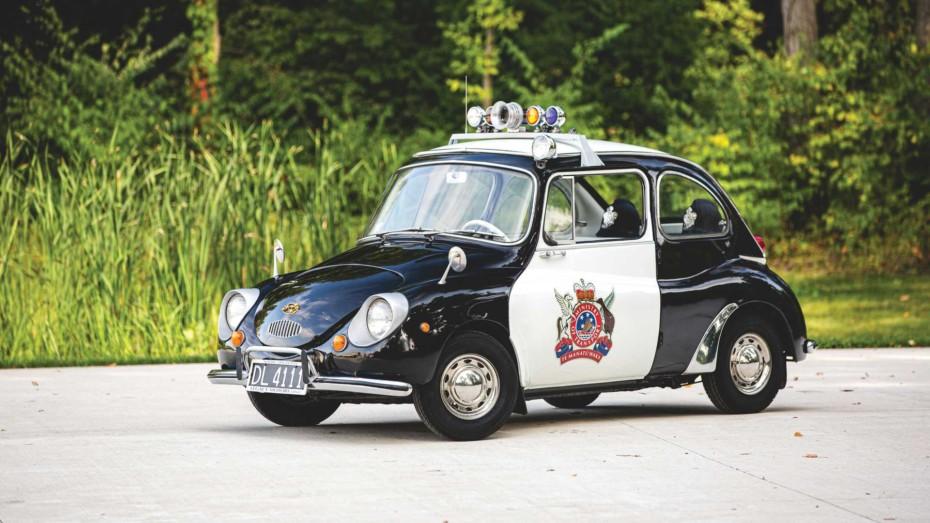 ¡Joya a la venta! Este simpático Subaru 360 de policía puede ser tuyo