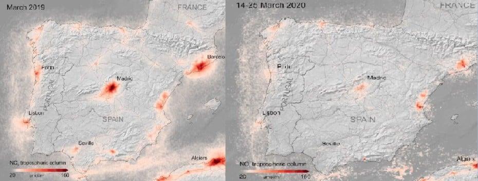 Así ha caído la contaminación en España durante el confinamiento por el COVID-19