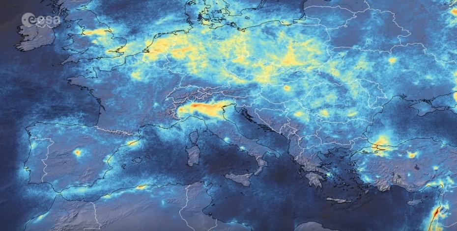 Atento a la imagen satélite: Italia reduce su contaminación por el parón del coronavirus