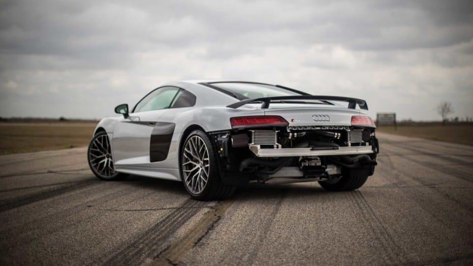 Así de salvaje puede llegar a ser el Audi R8 HPE900 de Hennessey en el banco de potencia
