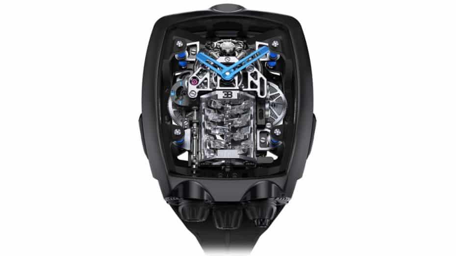 Ahora puedes llevar el motor W16 del Bugatti Chiron en tu muñeca: Por el precio de un Huracán EVO