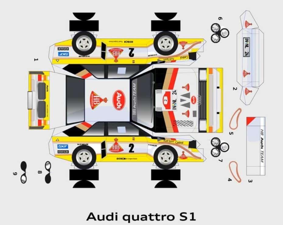 ¿Aburrido? Monta tú mismo el Audi S1 quattro gracias a este recortable
