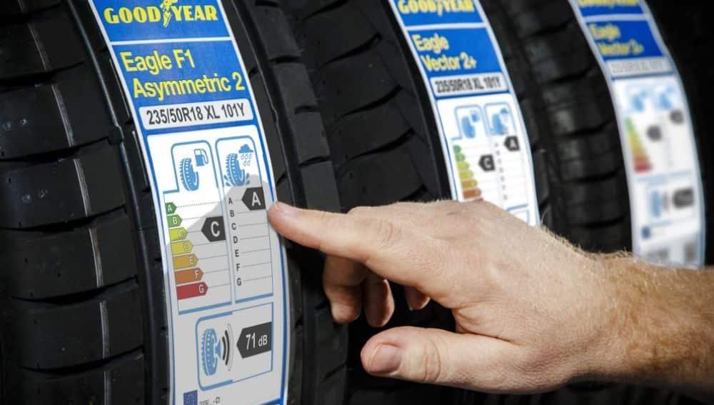 Etiquetado energético en un neumático