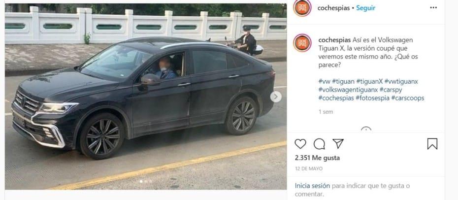 ¡Filtrado! Primeras imágenes del Volkswagen Tiguan X: Esto es lo que sabemos del SUV coupé