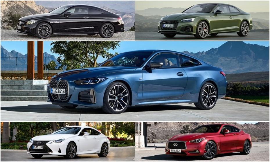 Comparación visual BMW Serie 4 Coupé frente a sus rivales: ¿Es tan malo arriesgar en el diseño?